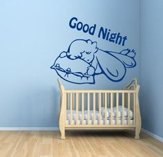 Baby Wall Decals Good Night Wall Words Kids by WallDecalswithLove ☂  ☻. ☂ ☺