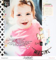 Layout *My Girl* - Crate Paper *Cute Girl*- von Ulrike Dold
