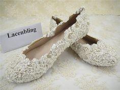 Chaussures de mariage chaussures de mariée dentelle par laceNbling