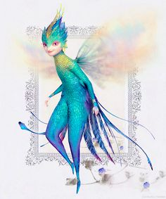 Tooth is a beautiful, elegant, blue and green iridescent fairy. She is half-human and half-hummingbird. Full of energy and always in motion, her feet never touch the ground. Everyone knows the Tooth Fairy collects children's teeth with the help of her fleet of mini fairies that patrol the globe 24/7. What you don't know is that the teeth hold the most precious childhood memories. Tooth safeguards these teeth in her palace and returns the memories when you need them most.