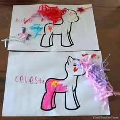 Decorate your own My Little Pony craft activity