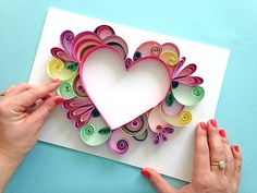 heart using paper quilling technique