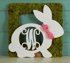 Wood Bunny Side Monogram