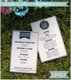 Custom designed graphic wedding ceremony programs, rustic wedding decor, wedding, event design, custom weddings, Wouldn't it be Lovely