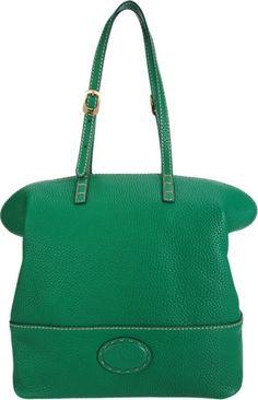 Fendi Selleria Shoulder Bag Green