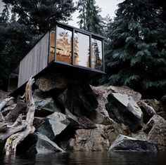 Cool House In The Woods By Alexander Dimitrov 23 on Home Design Furniture Decorating for House In The Woods By Alexander Dimitrov Cabin Design, Rustic Design, House Design, Contemporary Architecture, Architecture Design, Secluded Cabin, How To Build A Log Cabin, Wood Facade, House Furniture Design