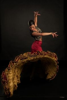 The wild, spinning fabric in flamenco dancing is one of the reasons it is one of my favourite types of dance.
