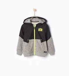 """RUN"" sports sweatshirt-New this week-Boy   4-14 years-COLLECTION SS16   ZARA United States"