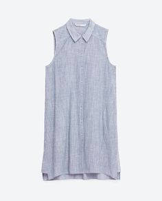 Image 8 of LONG SHIRT WITH FINE STRIPE from Zara