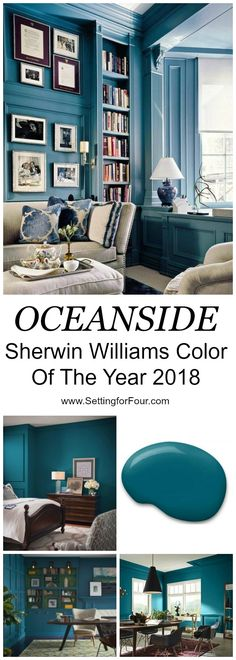 Farmhouse Side Table, Front Door Colors, Front Doors, Interior Paint Colors, New Blue, Color Of The Year, New Wall, Family Room, New Homes