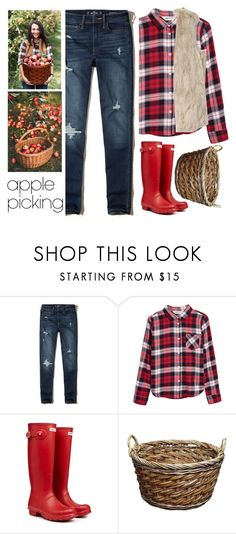 """Apple picking"" by dinamour ❤ liked on Polyvore featuring Hollister Co. and Hunter"