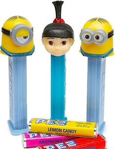 Do you know someone who can't stop talking about the Minions?  Did they really like Despicable Me?  Then I think you know exactly who to get these Minions Pez Dispensers for... http://www.candywarehouse.com/products/despicable-me-pez-candy-packs-12-piece-display/