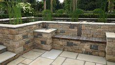 26 ideas for backyard patio garden stones Backyard Shade, Backyard Gazebo, Backyard Garden Design, Patio Design, Backyard Landscaping, Landscaping Ideas, Stone Backyard, Terraced Backyard, Patio Stone