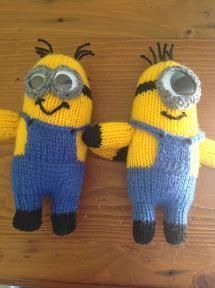 Free Despicable Me Minion Knitting Patterns.  Hahaha love these.