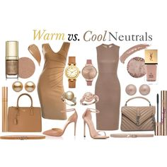 Warm vs. Cool Neutrals by prettyyourworld on Polyvore featuring Mode, Iris & Ink, Alessandro Dell'Acqua, Christian Louboutin, Stuart Weitzman, Yves Saint Laurent, Prada, Tory Burch, Olivia Burton and Christian Dior