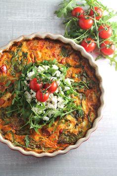 Roasted Tomato & Feta Frittata