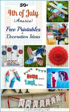4th of July free printable ideas.