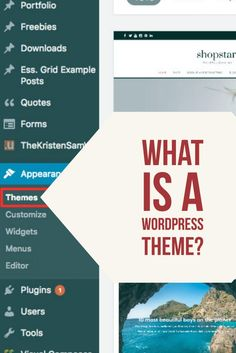 Let's talk about #WordPressThemes and how you could use one to customize your site.