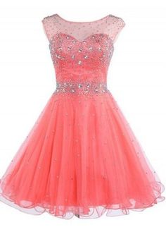 Pink Homecoming Dresses,Beaded Homecoming Dress,Cute Homecoming Dresses,Tulle Prom Dresses,Short Prom Gown