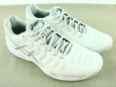 Asics Gel Resolution 7 PHF, E702Y, Men's Athletic Shoes, White - Gray, Size 10.5 #ASICS #AthleticSneakers
