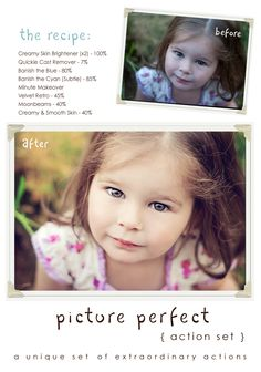 Picture Perfect Mega Set Recipe #1 | Photoshop Actions for Photographers - Paint The Moon