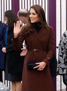 Catherine, Duchess of Cambridge arrives at Liverpool charity The Brink on February 14, 2012 in Liverpool.