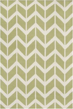 Flatweave wool rug from the Fallon Collection designed by @Jill Meyers Rosenwald for Surya (FAL-1052) Winter white and light lime