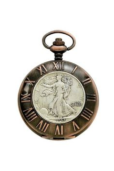 Half Dollar Antique Pocket Watch