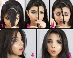 بالفيديو، كيفيّة قصّ الغرّة في المنزل وفي أقلّ من دقيقة Side Bangs Hairstyles, Pretty Hairstyles, Haircuts, Different Hairstyles, Layered Cuts, Shiny Hair, Hair Inspo, Hair Growth, Hair And Nails