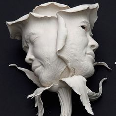"""Earth to Earth"", Porcelain,  Johnson Tsang, 2008 Close up Collected by the Hong Kong Heritage Museum  Through this work, I wish to express what we encounter in life will eventually wither, fall and pass away, like those petals of a blooming rose.  #johnsontsang #sculpture #art #porcelain"