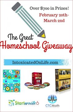 Check out the Ultimate Homeschool Giveaway!!!