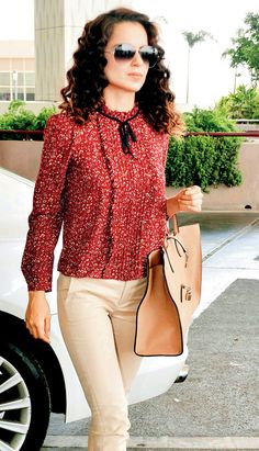 Kangana Ranaut at the Mumbai airport.