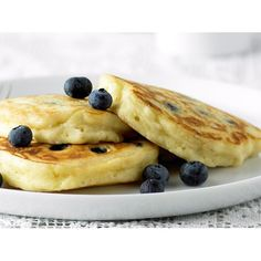 These beautiful blueberry pancakes are wonderfully light and fluffy. Drizzled with divine, sweet and sticky maple syrup they're perfect for a lazy weekend breakfast or brunch