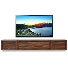 Floating Fireplace Wall Mount TV Stand - ECO GEO Espresso - Woodwaves Diy Tv Wall Mount, Wall Mount Tv Stand, Wall Mounted Tv, Fireplace Tv Stand, Fireplace Wall, Floating Fireplace, Pottery Barn, Long Tv Stand, Wall Mount Entertainment Center