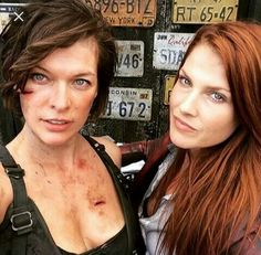 Mila jovovich and Ali larter