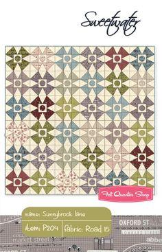 Sunnybrook Lane Quilt Pattern Sweetwater #P204 - Fat Quarter Shop