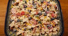 Pasta Salad, Breakfast, Ethnic Recipes, Impreza, Food, Crab Pasta Salad, Morning Coffee, Essen, Meals