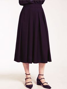 Dahlia Hampstead Black Wide Pleat Culottes