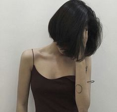 Short Bob Synthetic Lace Front Wigs for Women L Part Black Color Light Yaki Straight Heat Resistant Synthetic Hair Replacement Wigs Style Ulzzang, Ulzzang Girl, Asian Haircut, Redhead Girl, Girl Short Hair, Girl Hair, Trendy Hairstyles, Hot Haircuts, Bob Hairstyles