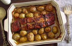 Entrecosto no forno com mel e mostarda | Food From Portugal