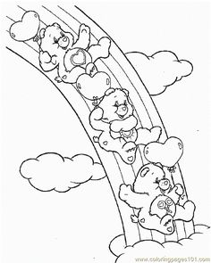 Care Bears Printable Coloring Pages | Coloring Pages Bear5 (Cartoons > Care Bears) - free printable coloring ...