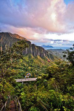 View from Haiku Stairs, Oahu, Hawaii