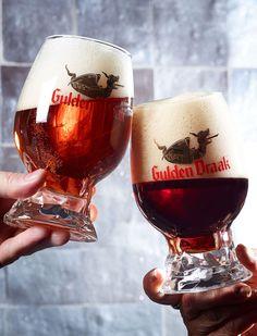 """The new Gulden Draak """"dragon egg"""" glass. For Gulden Draak and Gulden Draak 9000 Quadruple"""