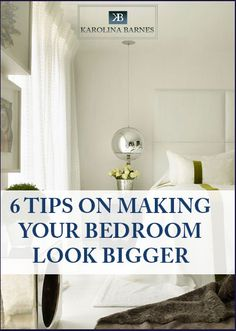 If you have a small bedroom follow these 6 tips to make it look bigger with little effort and money!