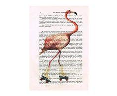 Impresión en papel de alta calidad Flamingo I - 29,7x42 cm
