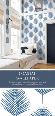 Coastal Wallpaper, Palm Wallpaper, Painting Wallpaper, Wallpaper Roll, Peel And Stick Wallpaper, Lillian August, Design Repeats, Self Adhesive Wallpaper, Color Stories