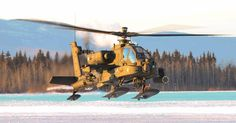 A #USArmy AH-64 Apache helicopter crew, assigned to 1-25th Attack Reconnaissance Battalion, 25th Combat Aviation Brigade, 25th Infantry Division, U.S. Army Alaska, conduct pilot certification training at Fort Wainwright, Alaska, Jan. 20, 2016.