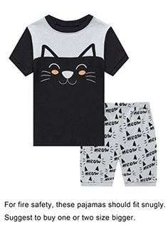 245a39aa7c The Children s Place Deer Little Girls  Short Pajamas 100 Cotton Clothes  6M- 14Years Pajama