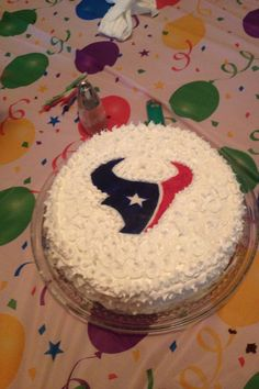 Houston Texans cake I made for my Father-in-laws birthday! Everyone loved it! :))