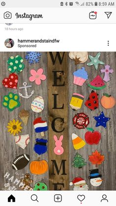 Interchangeable WELCOME sign – Hammer & Stain Middle Georgia Source by Cute Crafts, Crafts To Make, Arts And Crafts, Diy Crafts, Creative Crafts, Crafts Home, Hobbies Creative, Food Crafts, Preschool Crafts